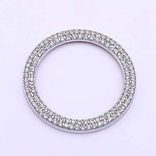 Kristall Strass Steine Glänzende Dekoration Silber Ring Für Auto Styling Knopf Knopf Fit Für Gla Cla Amg Class Rot Auto