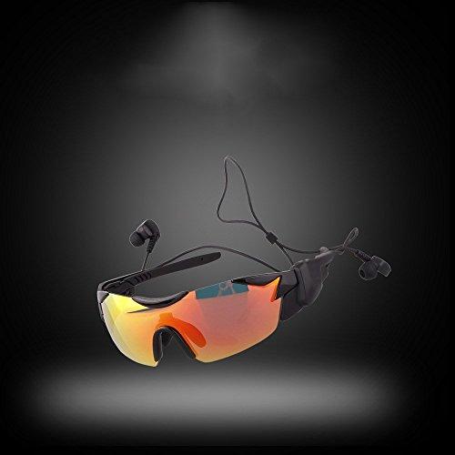 soleil Lunettes Lumière 6 Rouge Lunettes lunettes de de de Bluetooth Bluetooth futées de Noire Shop lunettes recyclage de intelligentes soleil soleil augmentant polarisées de 15txSq5