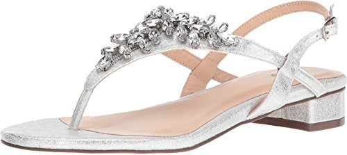 - Pink Paradox London Women's Flame Thong Sandal,Silver Synthetic,US 8 M