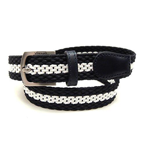 9bb21b26d Delicado VAELLO - Cinturón niño trenzado elástico con puntera piel ancho  25mm