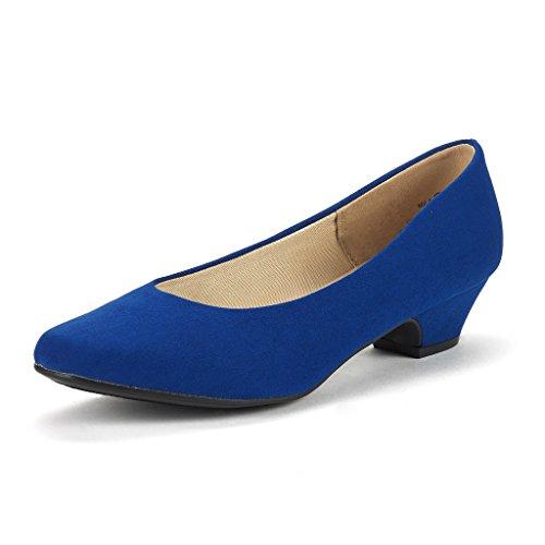PAIRS Pump Women's Heel Chunky Shoes Blue Low Royal Mila DREAM Uvdqw4v