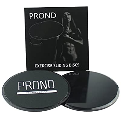 Gliding Discs, PROND Core Sliders Exercise - Fitness Sliding Sliders, 2 Dual Sided Sliders Use on Carpet or Hardwood Floors, Leg Machines, Abdominal & Total Body Workout Equipment For Gym, Home