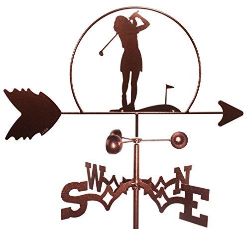 MONTGOMERY INDUSTRIES Female Golfer Weathervane (Garden Mount Included)