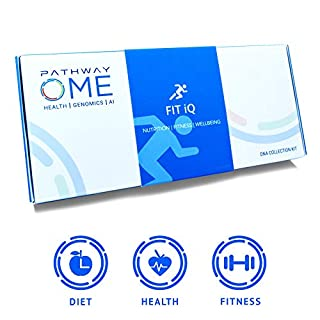 Pathway Genomics Fit iQ™ Home DNA Test Kit - Personal Genetic Testing for Health, Wellness, and Body Fitness, Diet Planning, Eating Behaviours, Food Sensitivity, Exercise Response, and Weight