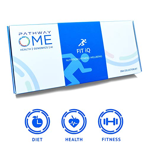 Pathway Genomics Fit iQTM Home DNA Test Kit - Personal Genetic Testing for Health, Wellness, and Body Fitness, Diet Planning, Eating Behaviours, Food Sensitivity, Exercise Response, and Weight (The Best Home Dna Test)