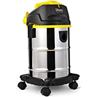 Dibea 5 Gallon, 4.5 Peak HP Stainless Steel Wet Dry Floor Vacuum Cleaner with Detachable Blower for Home Yard Patio Shop, DU100