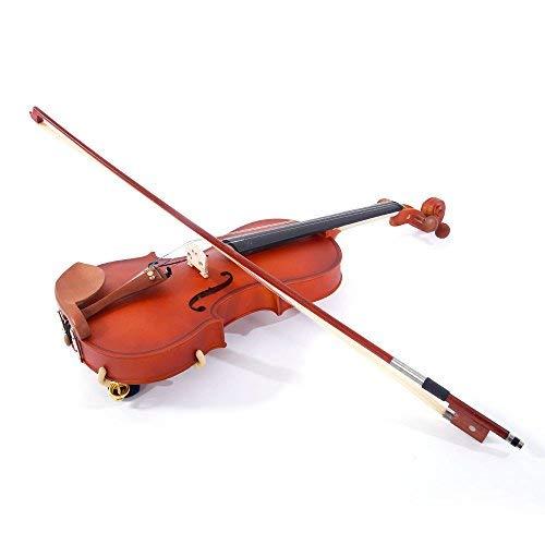 wuddi Acoustic Violin Fiddle Full Size with Shoulder Rest Tuner Bow Rosin Strings Case for Beginner Adult Boys Girls Children (4/4 Violin)