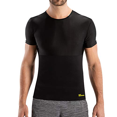 Hot Shapers Cami Hot Men - Compression Shirt Shapewear Vest - Ab Stimulator Sauna Suit for Workouts and Weight Loss - Slimming Body Shaper and Sweat Gym Girdle (3XL, Black)