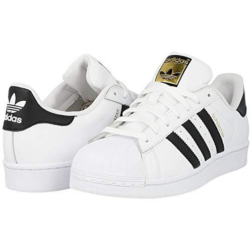 adidas Originals Men's Superstar Fashion Sneaker, White/Black/White, 3.5 M US