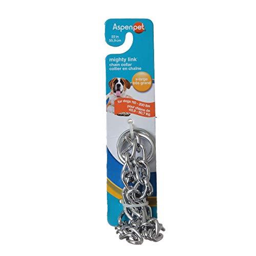 Petmate Mighty Chain Link (Aspen PET 82422 Pet Supplies Dog Collars Metal)