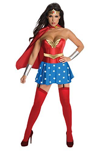 Secret Wishes Womens DC Comics Wonder Woman Corset Costume, Red/White/Blue, X-Small