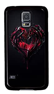 Samsung S5 crazy cases Love Heart Cool PC Black Custom Samsung Galaxy S5 Case Cover