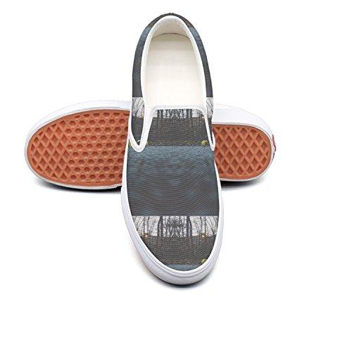 RegiDreae Canvas Slip On Sneakers For Women Skateboarding Skate Fashion Sneaker