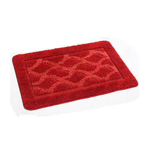 DEI QI 120 * 80 cm Suave Shaggy Antideslizante Alfombra de baño Absorbente Alfombra de baño alfombras Alfombra (Color :...