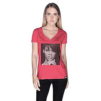 Creo Rihanna Celebrity T-Shirt For Women - Xl, Pink