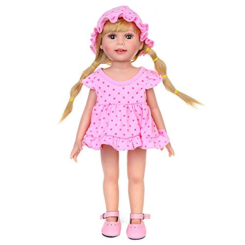 PSFS Cute Clothes Dress Hat,for 18 Inch Our Generation American Girl Doll (1 PC Skirt +1 PC Hat +1 Panties) (Pink)