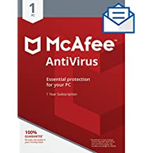 McAfee AntiVirus - 1 PC [Activation Card by Mail]