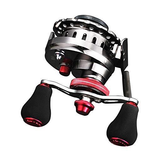 (LIZIJIN Rotating Reel Metal Descending Full Magnetic Reel Micro-Lead Wheel Descending Valve Fishing Front Wheel Fishing Reel Outdoor Reel, Left Hand)