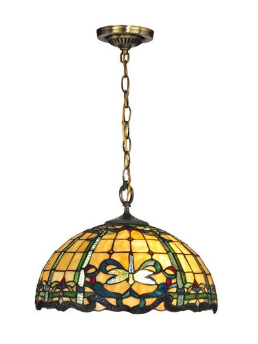 Dale Tiffany TH12234 Cabrini Pendant, Antique Brass - Dale Tiffany Hanging Pendant Lamp