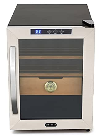 Whynter CHC-120S Stainless Steel 250-Cigar Cooler Humidor, 1.2 Cubic Feet