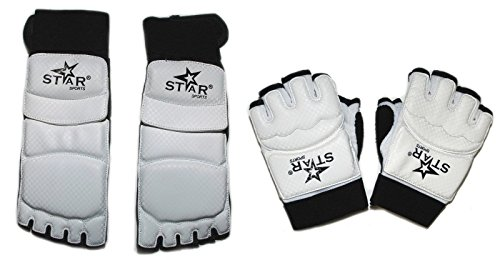 TaeKwonDo Karate Martial Arts Foot Guard Hand Protector Sparring Instep Gear
