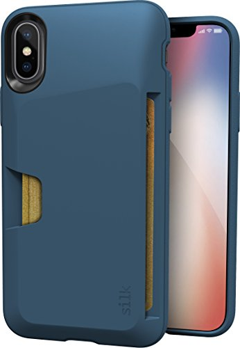 Smartish iPhone X/XS Wallet Case - Wallet Slayer Vol. 1 [Slim + Protective] Credit Card Holder for Apple iPhone 10s/10 (Silk) - Blues on the Green