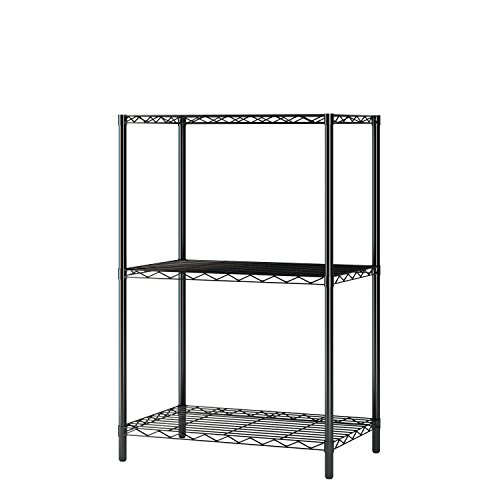 Shelf Racks Component 3 (MULSH 3 Tier Wire Shelving Metal Wire Shelf Storage Rack Durable Organizer Unit Perfect for Kitchen Garage Pantry Organization in Black,21