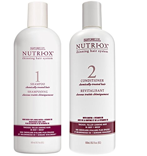 Amazon.com : Nutri-Ox Shampoo & Conditioner Set for Chemically Treated Thin Hair (20 Ounce) : Beauty