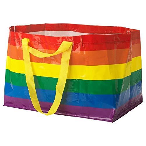 IKEA KVANTING Rainbow Pride Multicolored Bag Shopping Storage Laundry]()