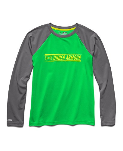 Under Armour Big Boys' UA Iso-Chill Element Long Sleeve Shirt Youth Large GREEN ENERGY