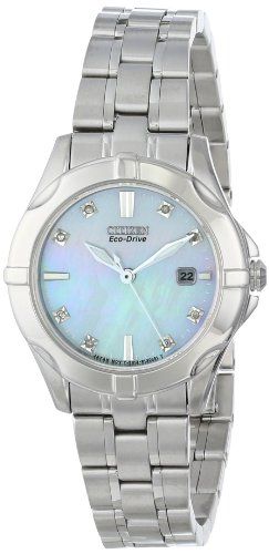 Citizen Women's Eco-Drive Diamond Accented Watch with Date, EW1930-50D ()
