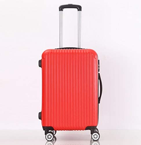 Color : Red, Size : S Tjtz Large Capacity 26 inch 28 inch ABS Trolley case Luggage Universal Wheel Password Suitcase Men and Women