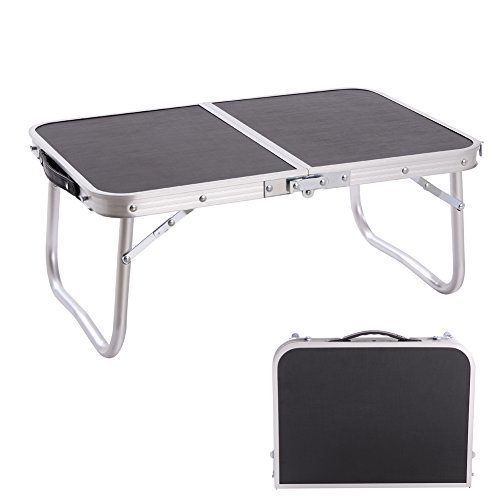 CampLand Aluminum Small Folding Table Outdoor Lightweight Portable for Camping, Beach, Backyards,...