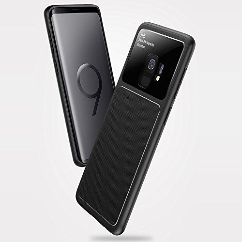 Galaxy S9 Funda, WindCase Híbrido Exterior Estructurado Antideslizante Carcasa TPU Antigolpes Armor Protección Case para Samsung Galaxy S9 Rojo Azul marino