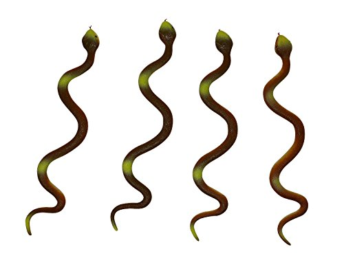 J&J's ToyScape 17'' Long Artificial Snakes (Pack of 4 - Assorted Styles) Kid's Gag Toys, Fun Play, Ideal For Party Favors & Gifts by J&J's ToyScape