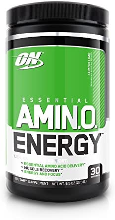 OPTIMUM NUTRITION ESSENTIAL AMINO ENERGY with Green Tea and Green Coffee Extract, Flavor Concord Grape, 65 Servings