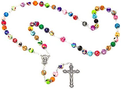 COLOURED ROSARY BEADS