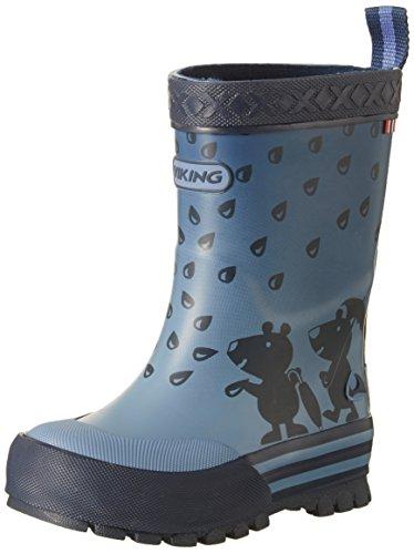 Viking Unisex-Kinder Plask Gummistiefel Blau (Navy)