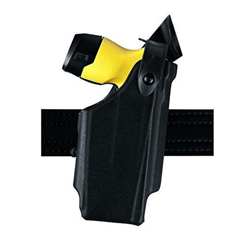 Safariland 6520 EDW Holster SLS and Adjustable Angle, Clip-On Belt Loop, Black, Right Hand, Taser (Cross Draw Taser Holster)