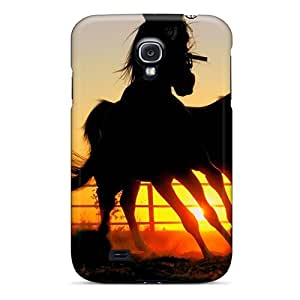 New Fashion Premium Tpu Case Cover For Galaxy S4 - Running Horses