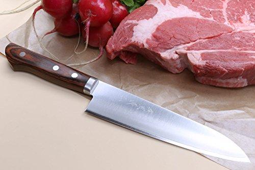Yoshihiro VG-1 Gold Stainless Steel Gyuto Japanese Chef Knife 7'' (180mm) by Yoshihiro (Image #1)