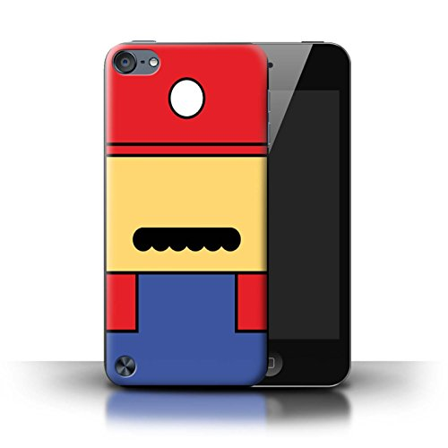 Cover for Apple iPod Touch 5 / Mario Inspired Design / Retro Gaming Characters Collection ()