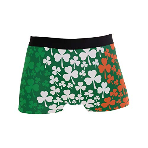 (ZZKKO Workout Briefs Men's Underwear Briefs St. Patrick's Day Shamrock Irish Flag Breathable Underwear Sport Men Brief Size M )