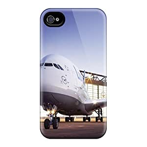 Anti-scratch And Shatterproof Lufthansa A380 Phone Case For Iphone 4/4s/ High Quality Tpu Case