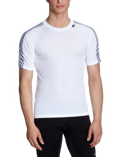Helly Hansen Men's Dry Stripe T-Shirt, Bright White, X-Large