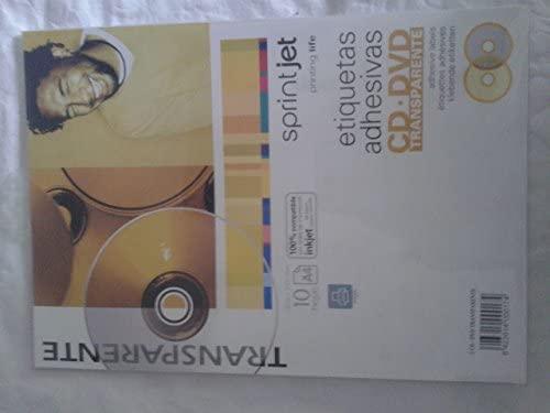 Etiquetas Adhesivas transparentes para CD y DVD para impresora de ...