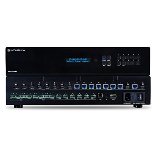 - Atlona AT-UHD-PRO3-88M | 4K UHD Dual Distance 8x8 HDMI to HDBaseT Matrix Switcher with PoE