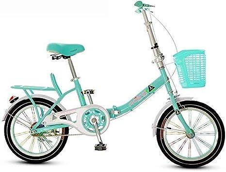 AJH Bicicleta Plegable de 16 Pulgadas Bicicleta Plegable, Asiento ...