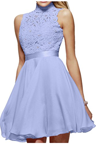 Spitze Ballkleider Liebling Kurz Stehkragen Kleider Abendkleider Chiffon Bride A Heimkehr Damen Milano Promkleider Linie Lavendel pAqwFO1xI