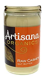 Artisana Organics  -  Cashew Nut Butter, USDA Organic Certified and Non-GMO Handmade Rich & Thick Spread (14 oz)